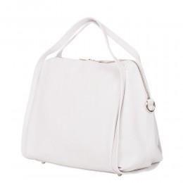 Дамска чанта от естествена кожа Evelyn, бяла