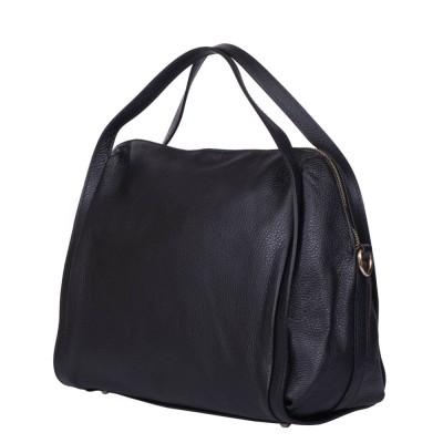 Дамска чанта от естествена кожа Evelyn, черна