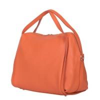 Дамска чанта от естествена кожа Evelyn, оранжева