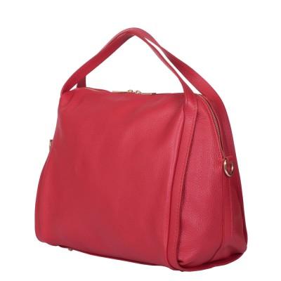 Дамска чанта от естествена кожа Evelyn, червена