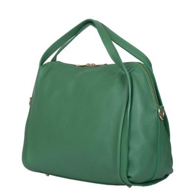 Дамска чанта от естествена кожа Evelyn, зелена