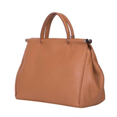 Дамска чанта от естествена кожа Camila, кафява