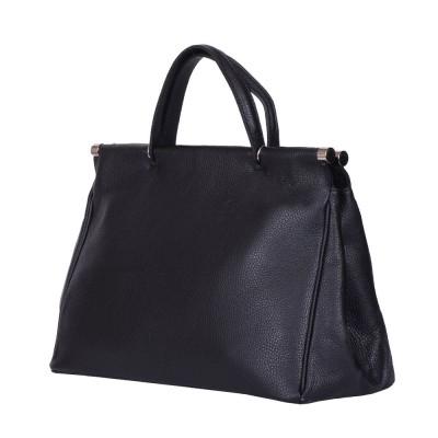 Дамска чанта от естествена кожа Camila, черна