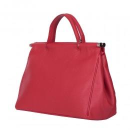 Дамска чанта от естествена кожа Camila, червена