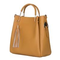 Дамска чанта от естествена кожа Fabiana, жълта