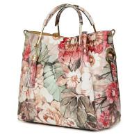 Дамска чанта от естествена кожа с цветя Fabiana FF1