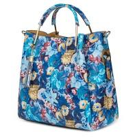 Дамска чанта от естествена кожа с цветя Fabiana FF2