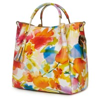 Дамска чанта от естествена кожа с цветя Fabiana FF3