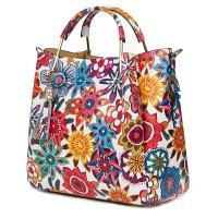 Дамска чанта от естествена кожа с цветя Fabiana FF5