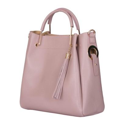 Дамска чанта от естествена кожа Fabiana, розова