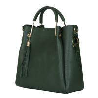Дамска чанта от естествена кожа Fabiana, зелена
