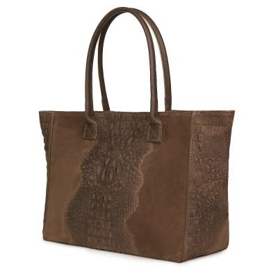 Дамска чанта от естествена кожа Lucrezia, бежова