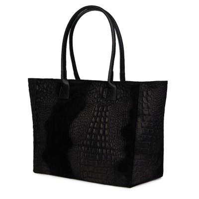 Дамска чанта от естествена кожа Lucrezia, черна