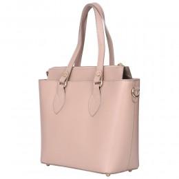 Дамска чанта от естествена кожа Luna, бежова