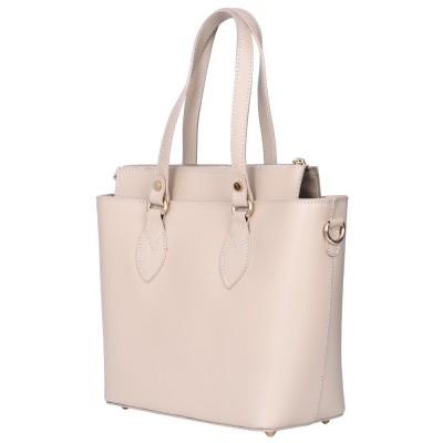 Дамска чанта от естествена кожа Luna, светло бежова