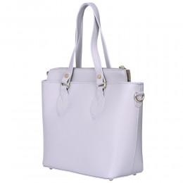 Дамска чанта от естествена кожа Luna, сива