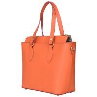 Дамска чанта от естествена кожа Luna, оранжева