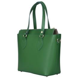 Дамска чанта от естествена кожа Luna, зелена
