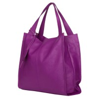Дамска чанта от естествена кожа Naomi, лилава