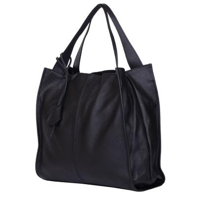 Дамска чанта от естествена кожа Naomi, черна