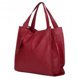 Дамска чанта от естествена кожа Naomi, червена