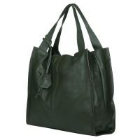 Дамска чанта от естествена кожа Naomi, зелена