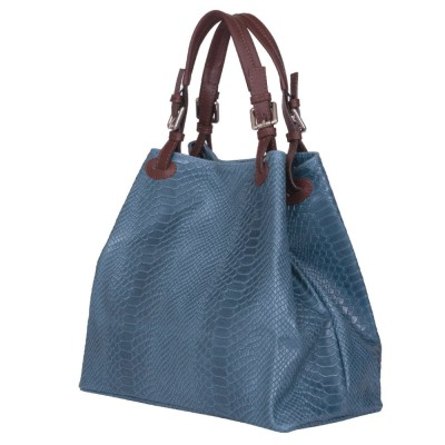Дамска чанта от естествена кожа Natalie, синя