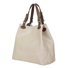 Дамска чанта от естествена кожа Natalie, бежова
