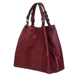 Дамска чанта от естествена кожа Natalie, бордо