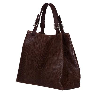 Дамска чанта от естествена кожа Natalie, кафява