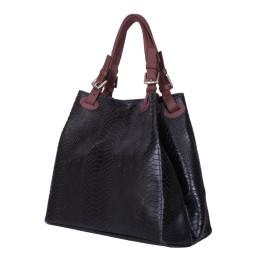 Дамска чанта от естествена кожа Natalie, черна