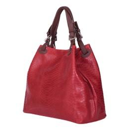 Дамска чанта от естествена кожа Natalie, червена