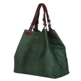 Дамска чанта от естествена кожа Natalie, зелена