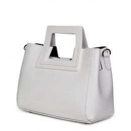 Дамска чанта от естествена кожа Armina, бяла