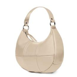 Чанта от естествена кожа Cristina, светло бежова