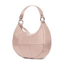 Чанта от естествена кожа Cristina, розова