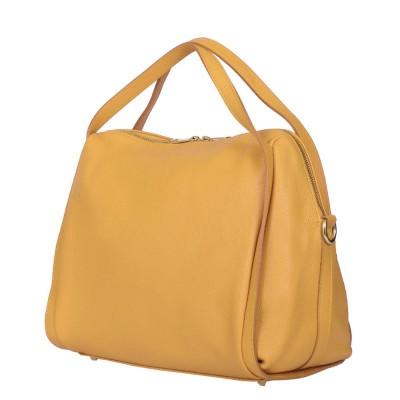 Дамска чанта от естествена кожа Evelyn, жълта
