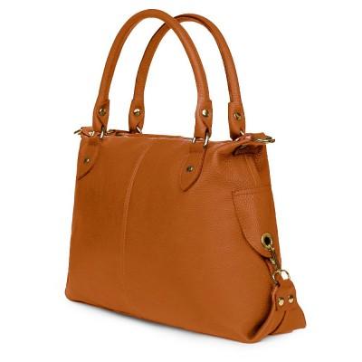Дамска чанта от естествена кожа Francesca, коняк