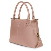 Дамска чанта от естествена кожа Francesca, розова