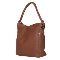Дамска чанта от естествена кожа Mia, коняк