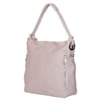 Дамска чанта от естествена кожа Mia, кремава