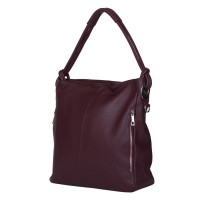 Дамска чанта от естествена кожа Mia, бордо