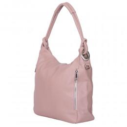 Дамска чанта от естествена кожа Mia, розова