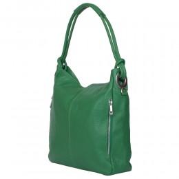 Дамска чанта от естествена кожа Mia, зелена