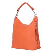 Дамска чанта от естествена кожа Sarah, оранжева