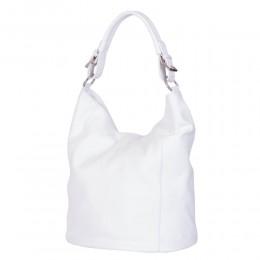 Дамска чанта от естествена кожа Silvia, бяла