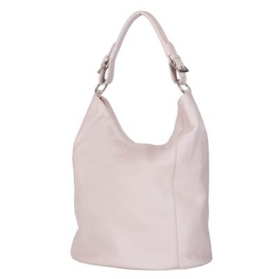 Дамска чанта от естествена кожа Silvia, кремава