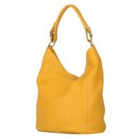 Дамска чанта от естествена кожа Silvia, жълта