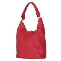 Дамска чанта от естествена кожа Silvia, червена