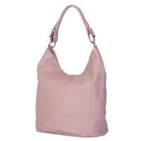 Дамска чанта от естествена кожа Silvia, розова